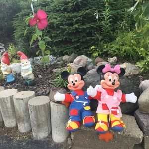 Vintage Mickey Mouse & Minnie Learn to Dress Dolls